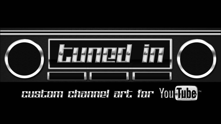 tuned in channel art template for youtube photoshop youtube