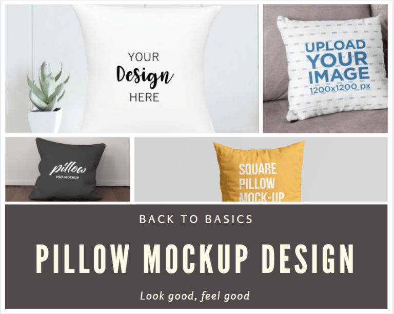 Free Design Pillow Mockup Download PSD and PNG