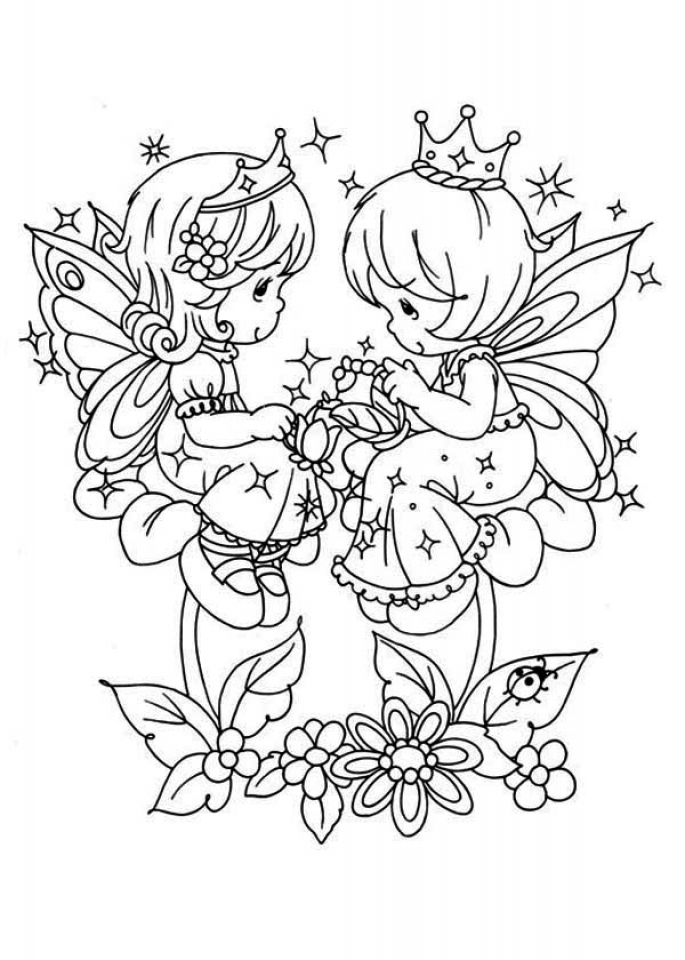 Precious Moments Coloring Pages Free Download