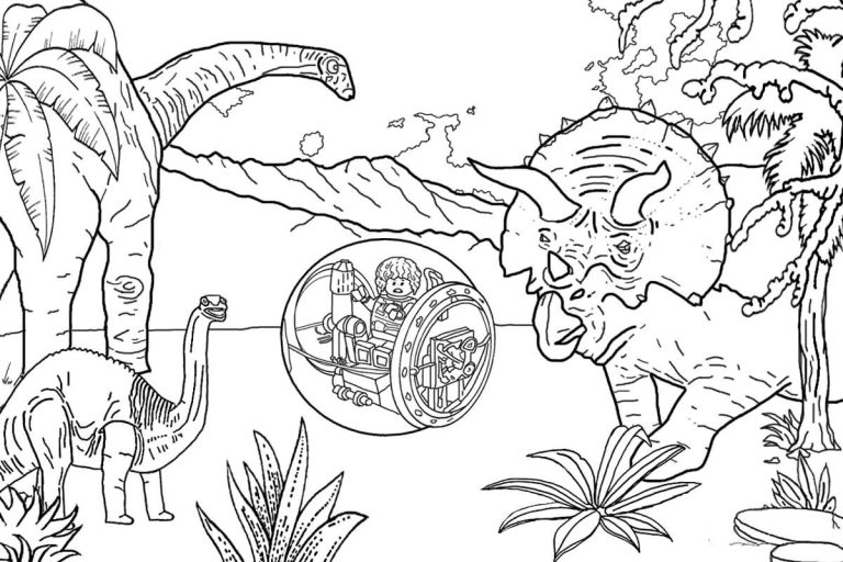 jurassic world coloring pages for Free Printable Sheet