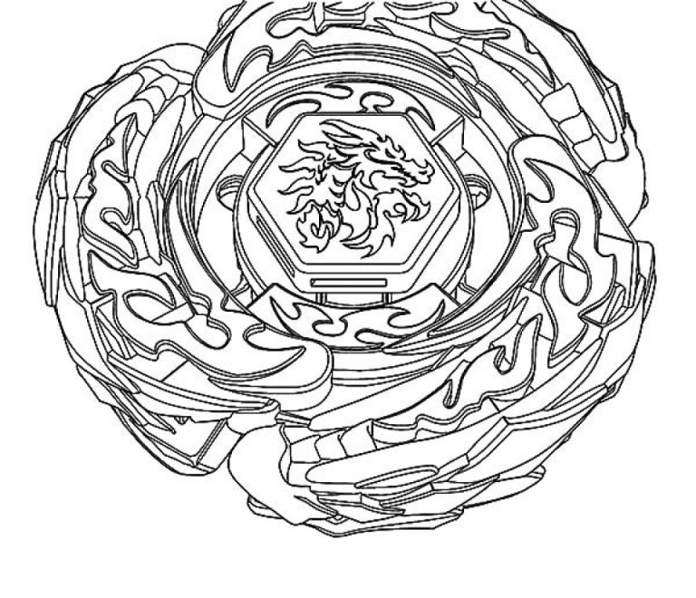 Beyblade Burst Evolution Coloring Pages