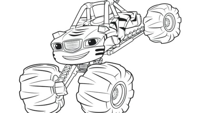 Coloring Pages Blaze