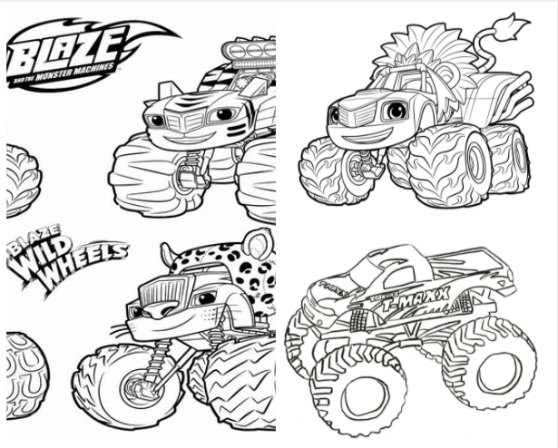 Download Free Blaze Coloring Pages