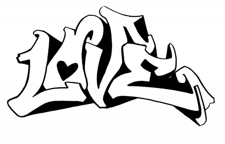 Graffiti Coloring Pages for Free Printable Sheet