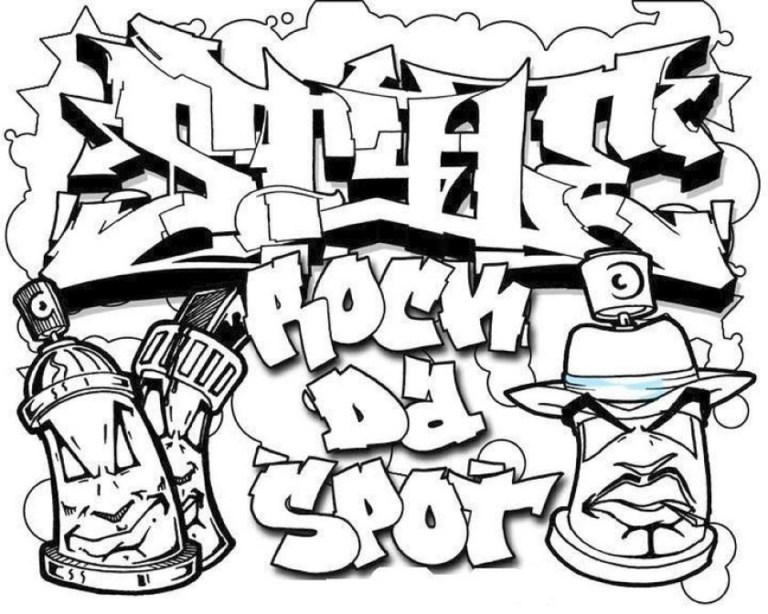 Graffiti Coloring Pages to Free Printable Online