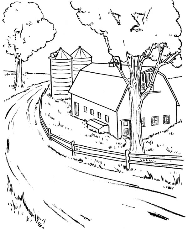 Barnyard Coloring Pages For Adult