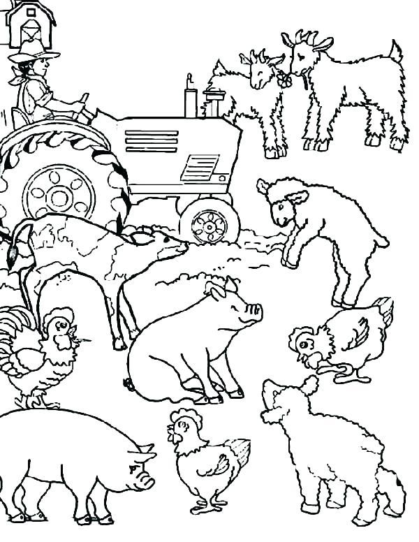 Barnyard Coloring Sheet
