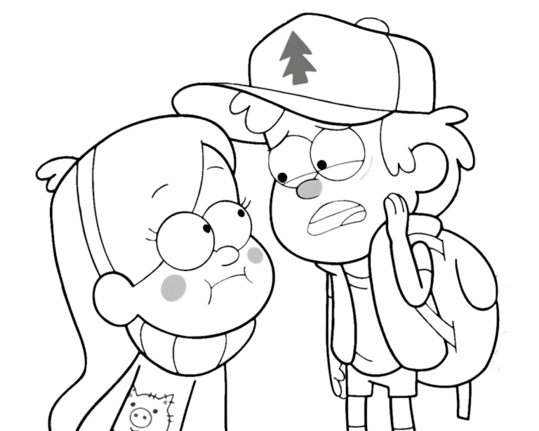 Best Gravity Falls Coloring Pages