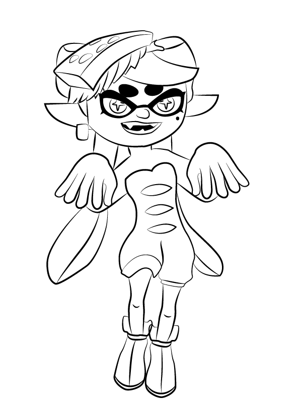 Best Splatoon Coloring Pages