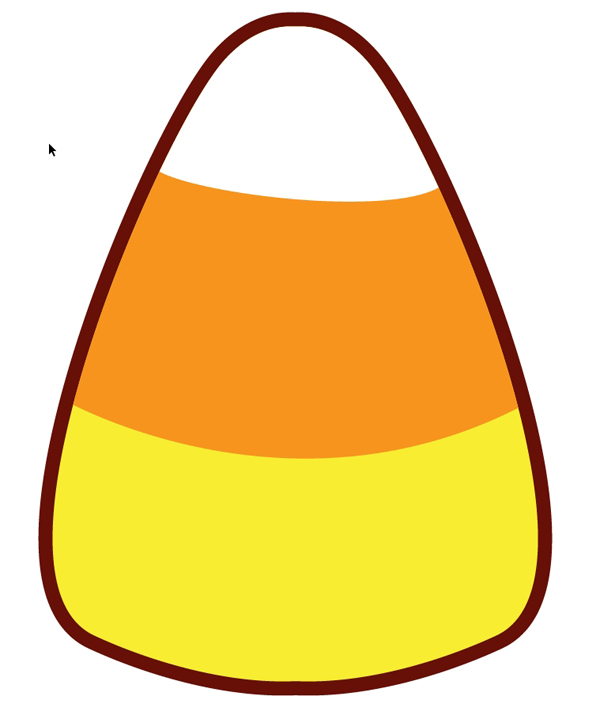 Candy Corn Coloring Template