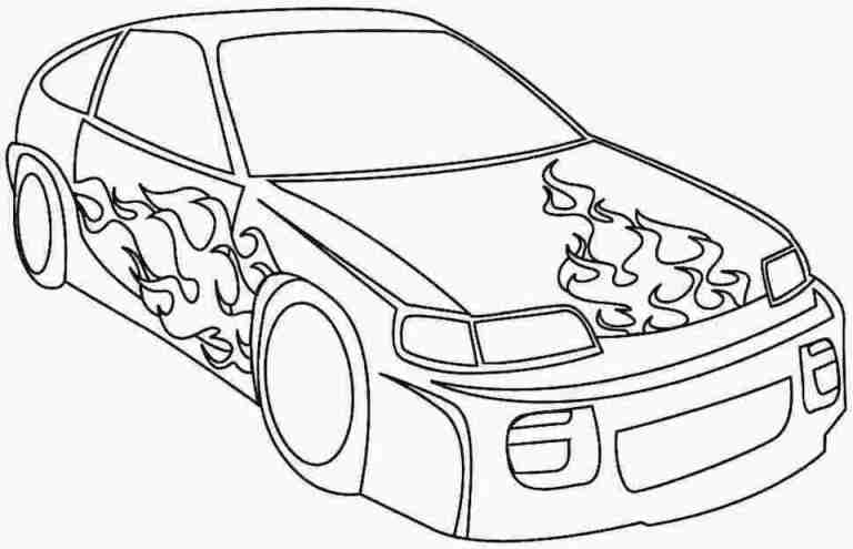 Car Coloring Pages Collection
