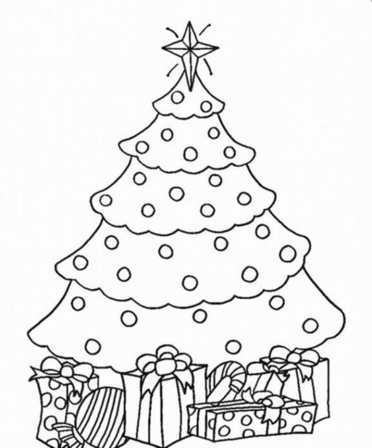 Christmas Tree Drawing For Kids