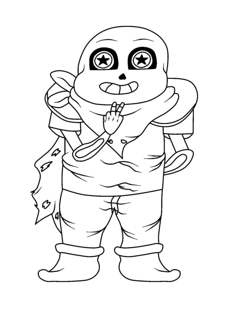 Easy Undertale Coloring Pages