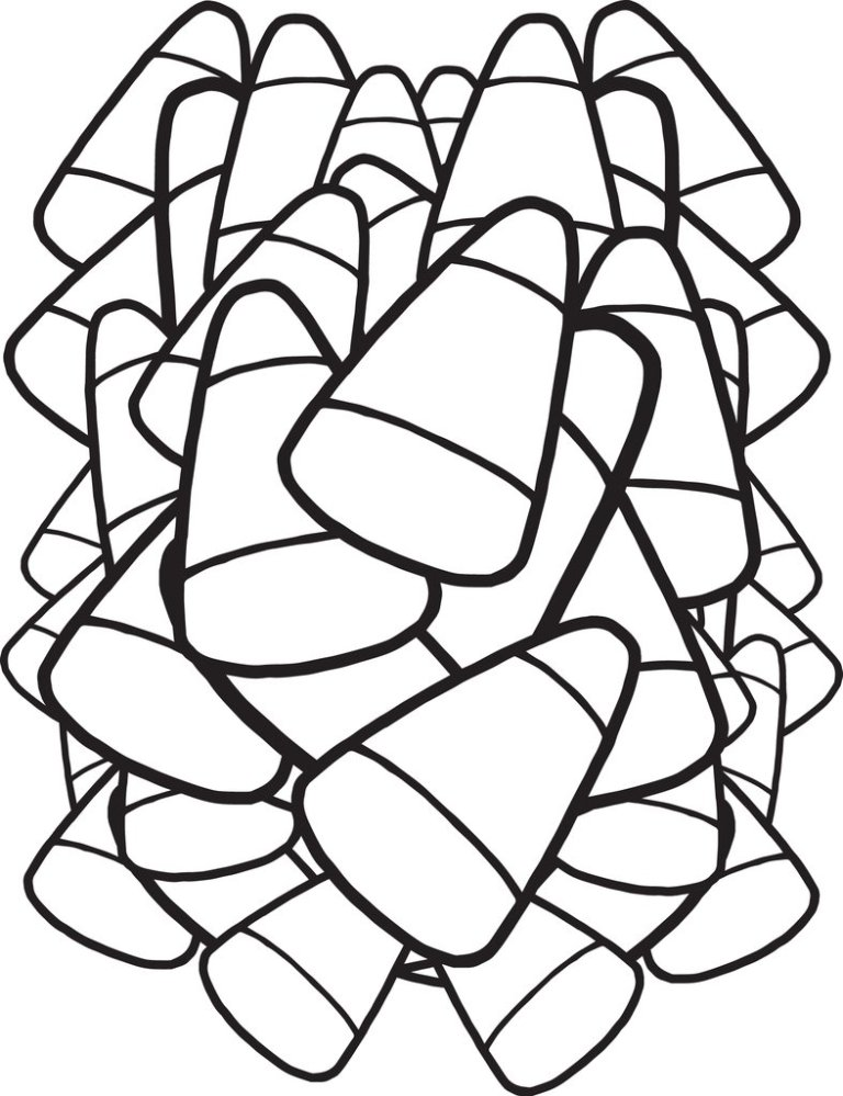 Candy Corn Coloring Page Printable