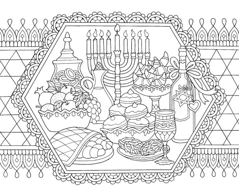 Free Hanukkah Coloring Pages Printable