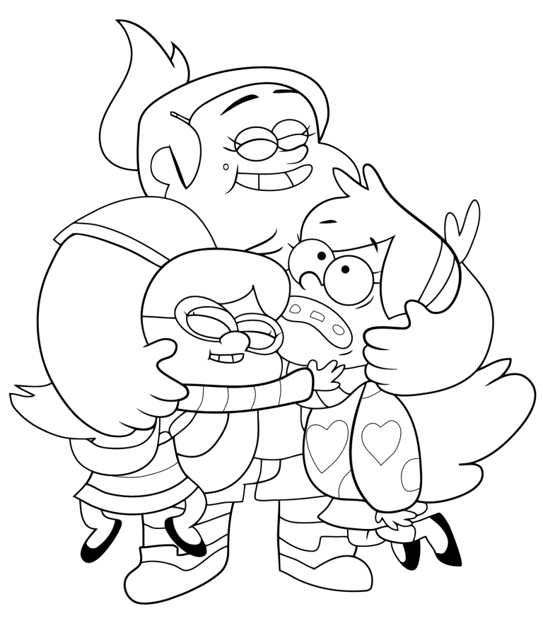 Gravity Falls Coloring Pages For Kids