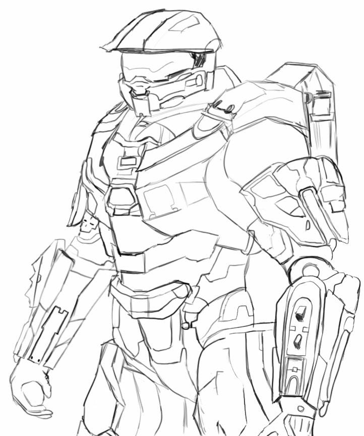 Halo Elite Coloring