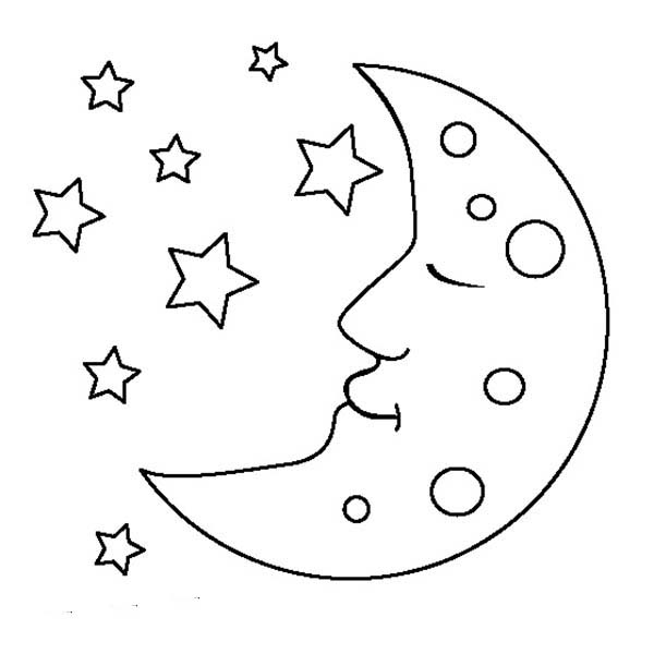 Moon Coloring Book