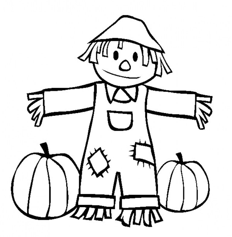 Scarecrow Coloring Pages Free for Kids   6Ir1n