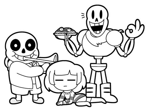 Undertale Coloring Pages To Print