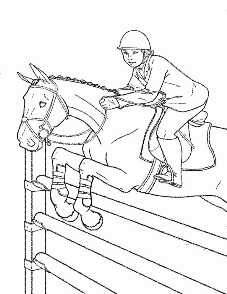 cute horses printable free coloring sheets