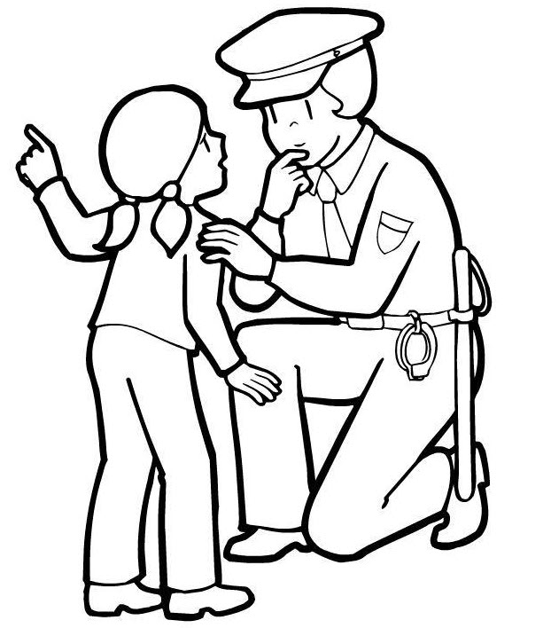 police coloring sheets