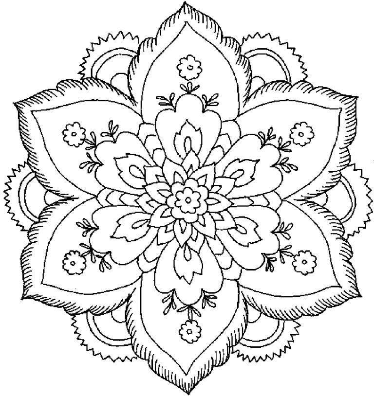 print out flower coloring pages