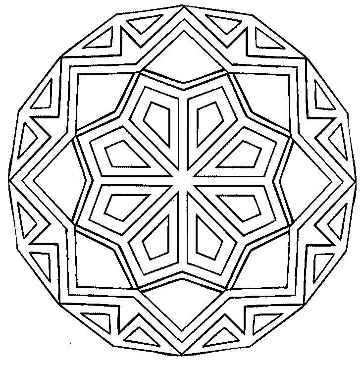 3d Geometric Pattern Coloring Pages