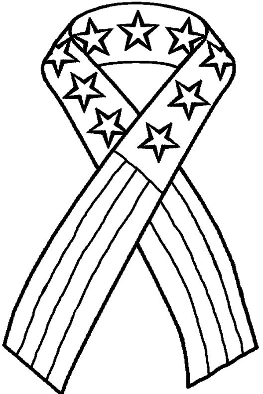 4th of july coloring pages cancer ribbon coloring