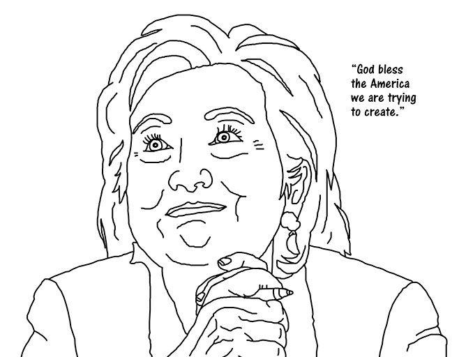 Hillary Clinton Coloring Book