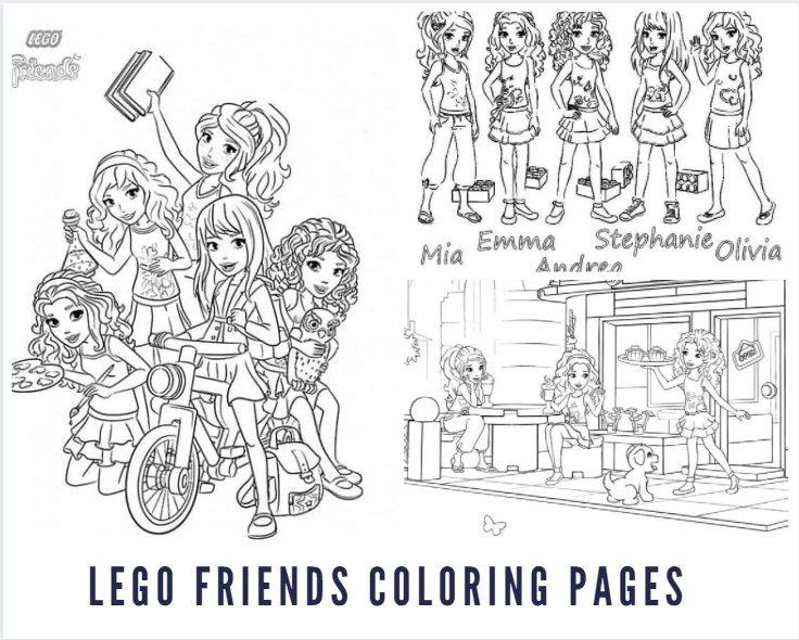 Lego Friends Colouring Pages
