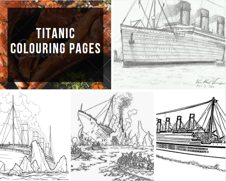 Titanic Colouring Pages