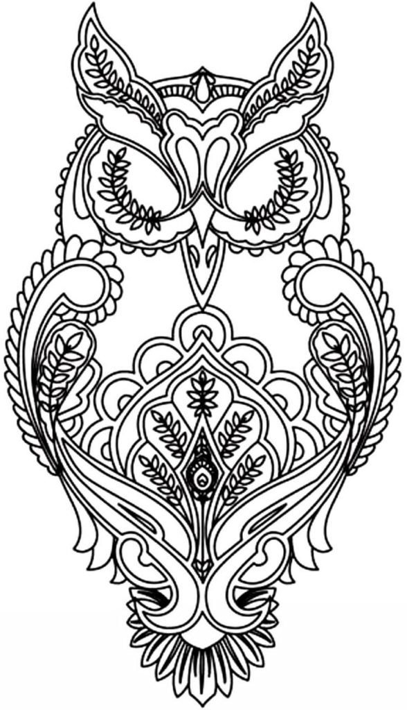 Abstract Owl Coloring Pages