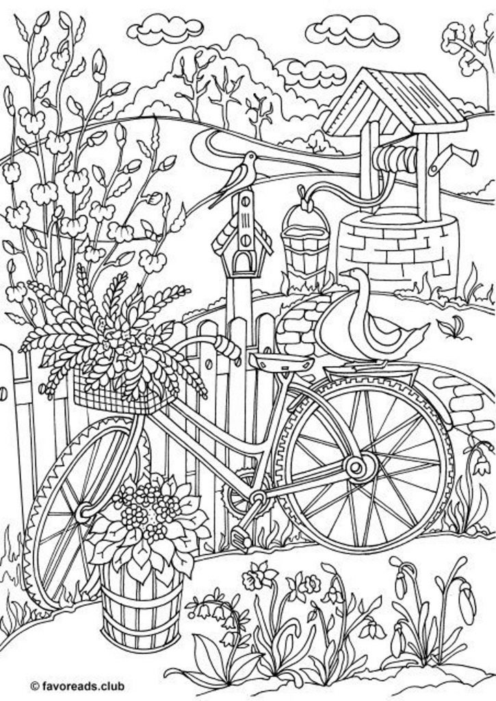 Adult Coloring Book Pages Secret Garden