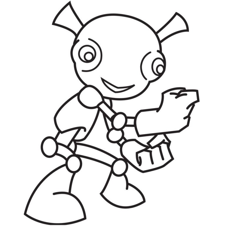 Alien Colouring Pages Free Downloads