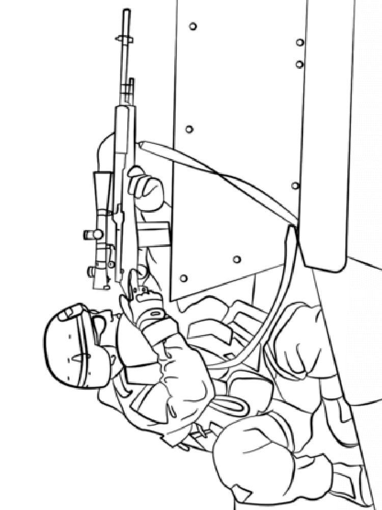 Army Coloring Sheet