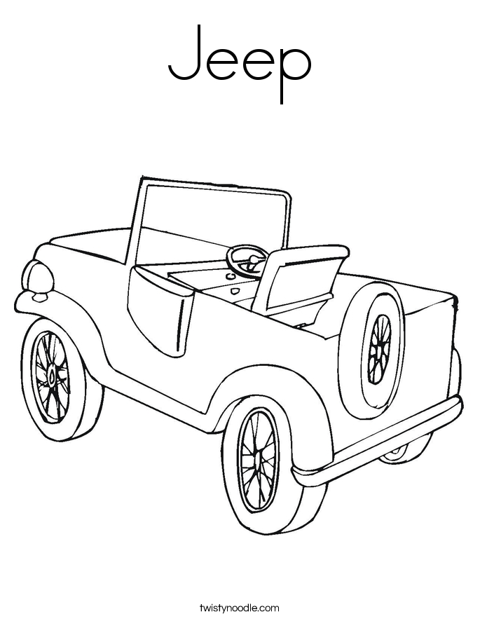 Army Jeep Coloring Pages twisty noodle