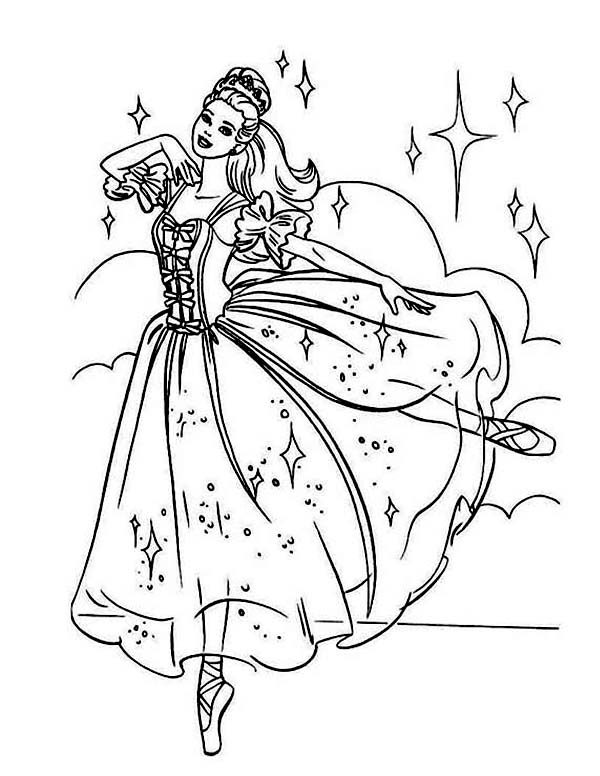 Ballerina Coloring Pages For Adults