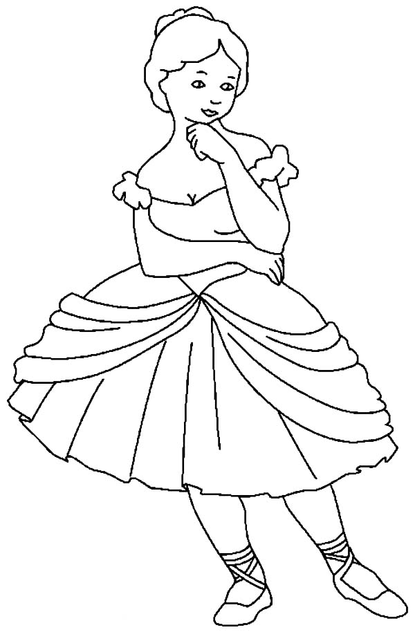 Ballerina To Color