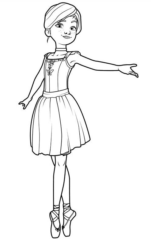 Ballet Dancer Coloring Pages