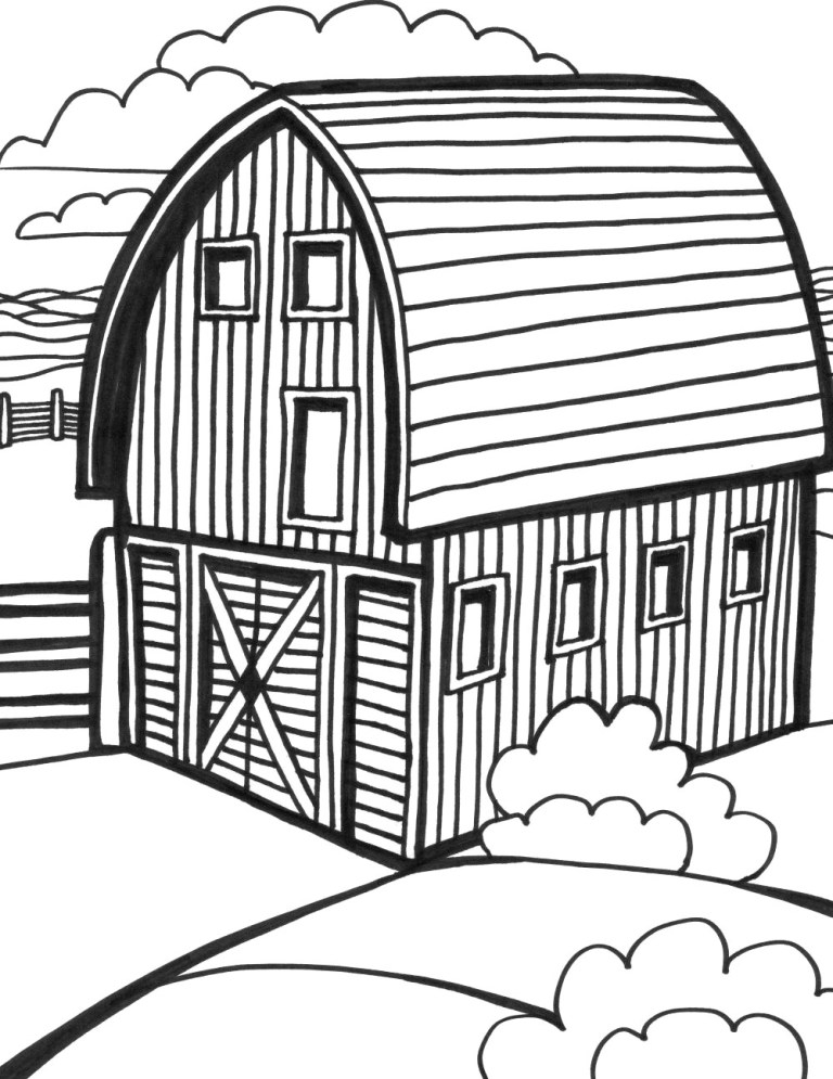 Barn Coloring Pictures