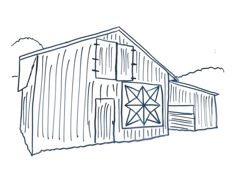 Barn Coloring Sheet