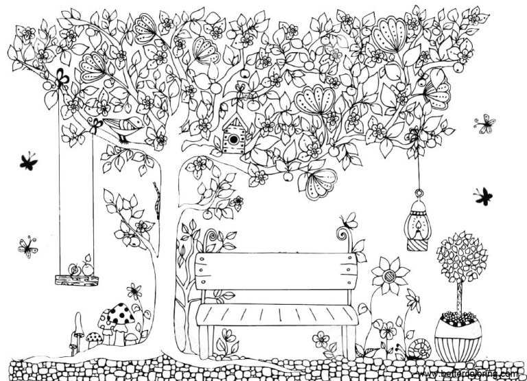 beautiful garden coloring pages free printable coloring pages