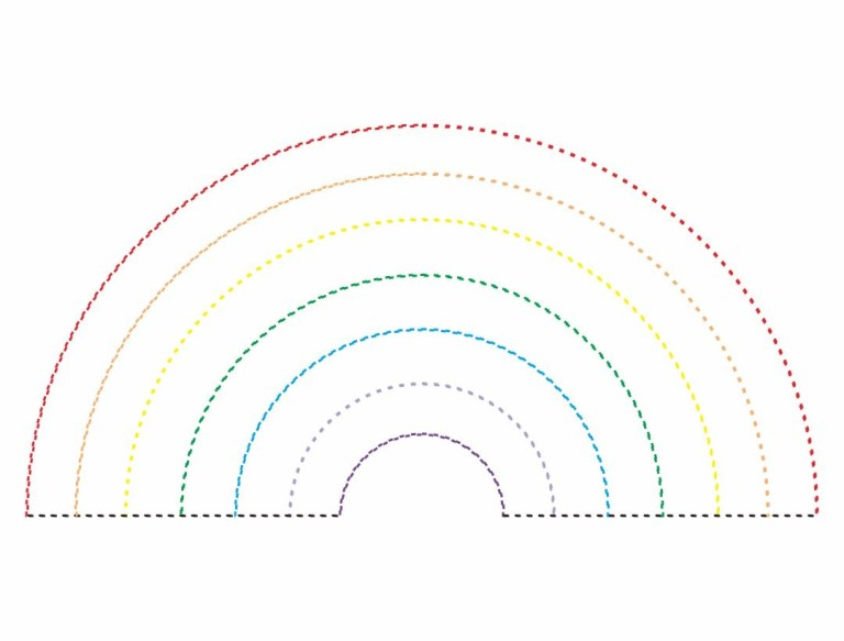 best images of dot rainbow printable online