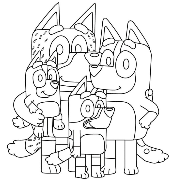 Bluey Coloring Pictures
