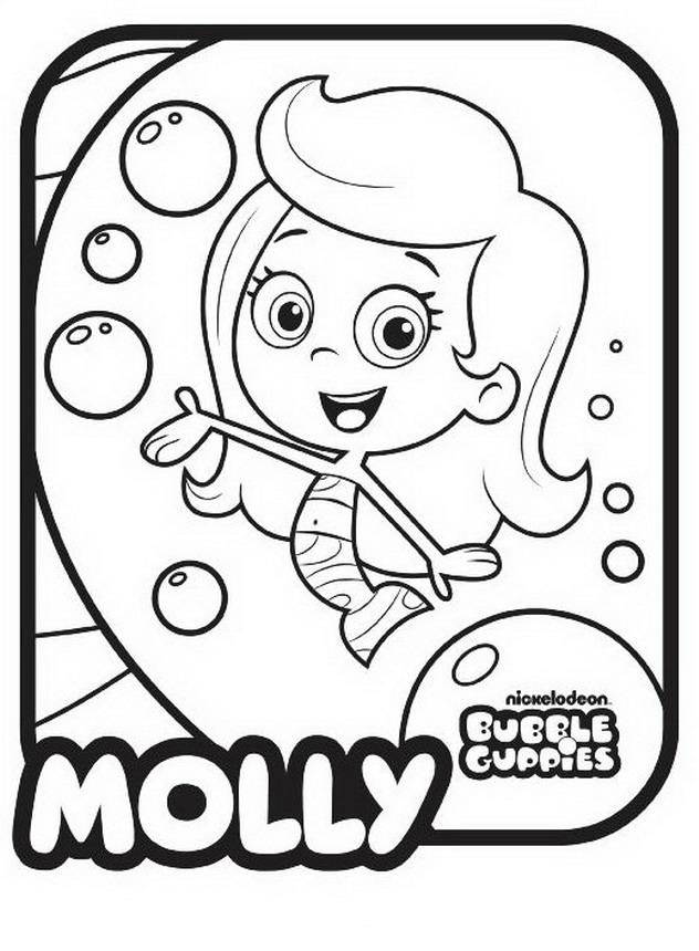 Bubble Guppies Mr Grouper Coloring Pages