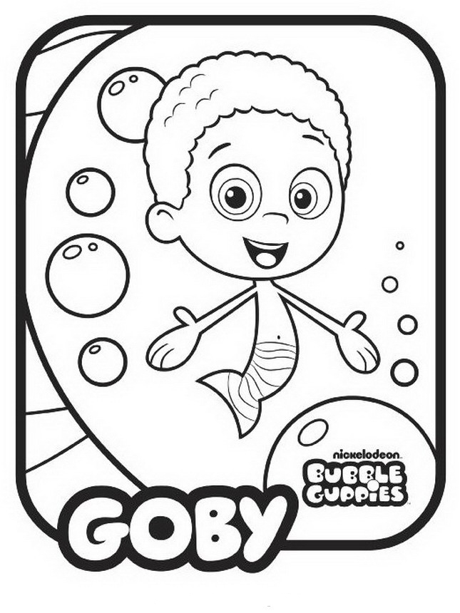 Bubble Guppies template