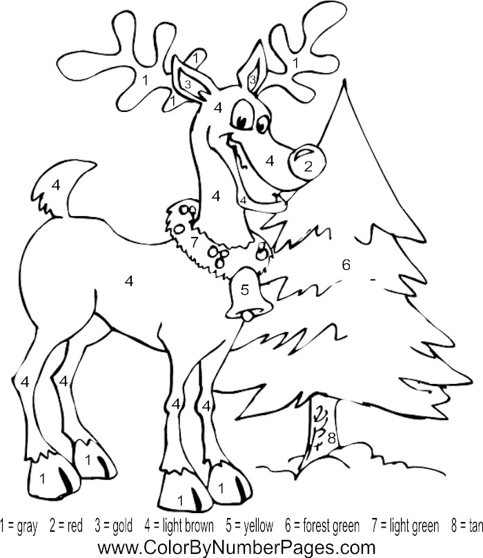 Christmas Pictures To Color By Number