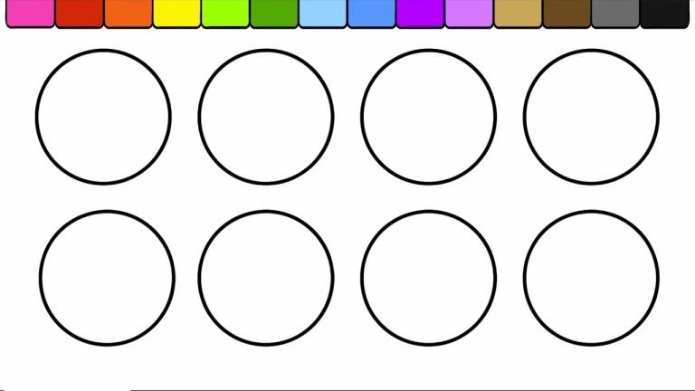 Circle Coloring Sheets
