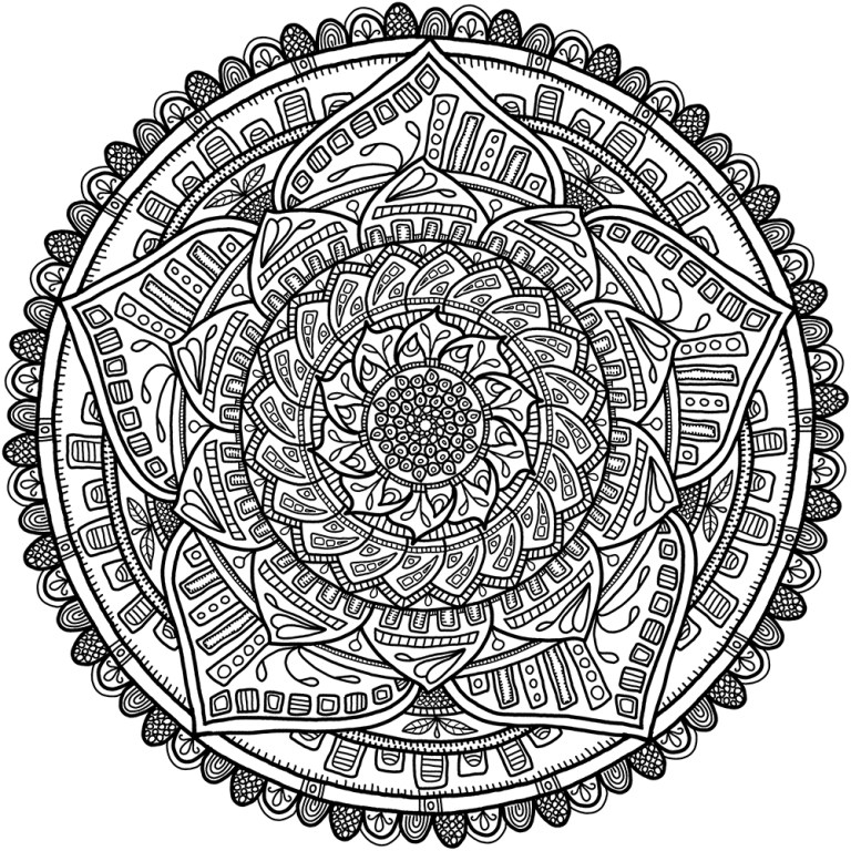 Circle Pattern Coloring Pages